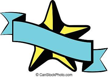 Star award icon, icon cartoon