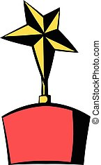 Star award icon, icon cartoon