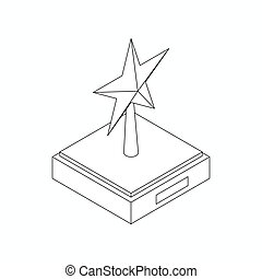 Star award icon, isometric 3d style