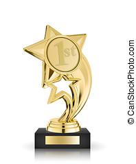 star award isolated on white background