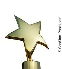 Star award isolated over white background