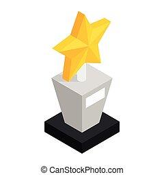 Star award isometric 3d icon