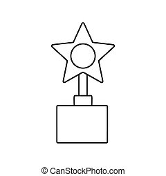 Star award line icon
