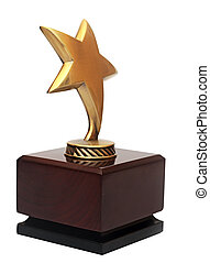 Star award on the white background