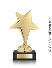 star award - stars awards isolated on white background