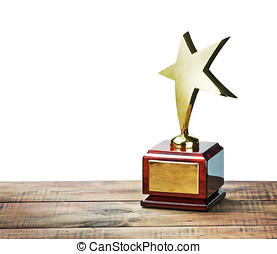 star award with space for text on white