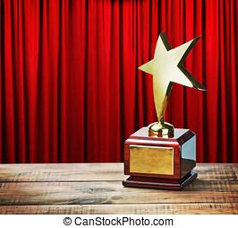 Star award wooden table