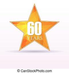 Star background anniversary 60 - Background with orange star...