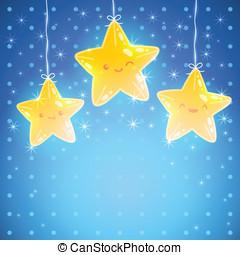 Star background. Good night vector illustration - Cute Star...