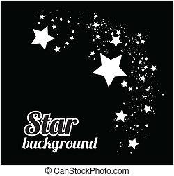 Star background vector illustration on black