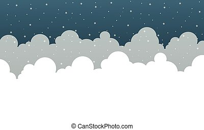 Star background with cloud collection