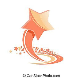 Beautiful colored star illustration on a white background