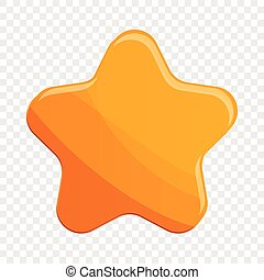 Star biscuit icon, cartoon style