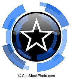 star black blue glossy web icon