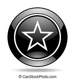 star black glossy icon