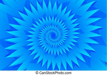 Star blue abstract vector pattern, Concentric star shapes -...