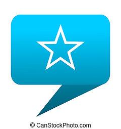 star blue bubble icon