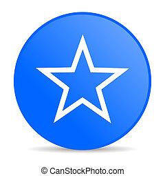 star blue circle web glossy icon