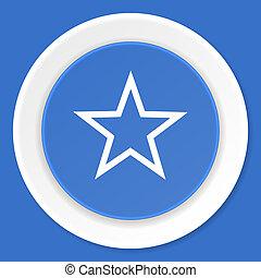 star blue flat design modern web icon