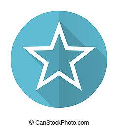 star blue flat icon