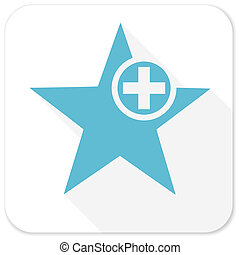 star blue flat icon