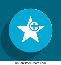 star blue flat web icon