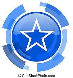 star blue glossy circle modern web icon