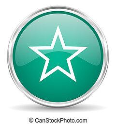 star blue glossy circle web icon