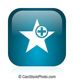 star blue glossy internet icon