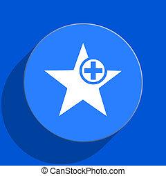star blue web flat icon