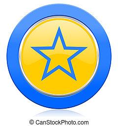star blue yellow icon