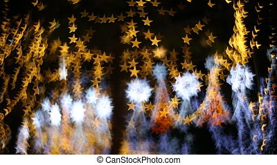 Star Bokeh, Christmas light in nighttime