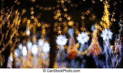 Star Bokeh, Christmas light in nighttime