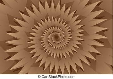 Star brown abstract vector pattern, Concentric star shapes -...