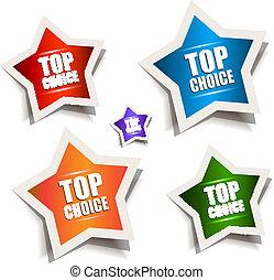 Star bubble speech with Best Choice motive