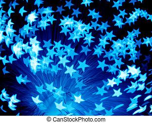 star burst - abstract background, custom bokeh series
