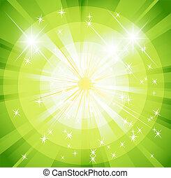 Star burst and sunbeam green