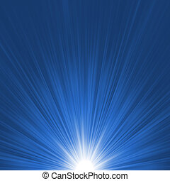 Star burst blue and white flare. EPS 8 vector file included