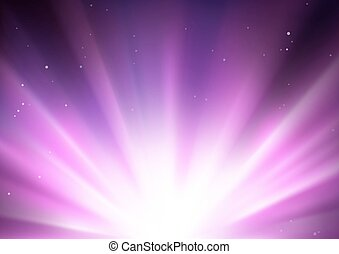 Star Burst And Light Explosion - Abstract Background...