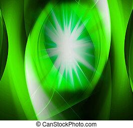 Star burst green background