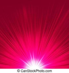 Star burst porple and white flare. EPS 8
