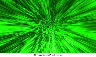 Star Burst Rays Vortex Green BG