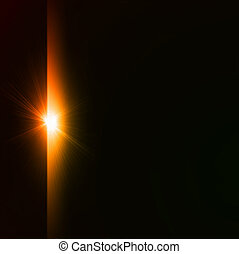 Star burst yellow on black background. Vector illustration