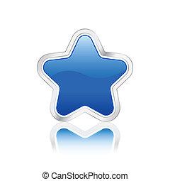 star button blue