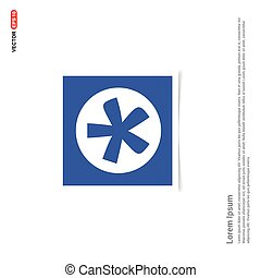 Star Button Icon - Blue photo Frame
