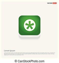 Star Button Icon Green Web Button