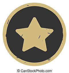 Star button icon vector illustration on gray background
