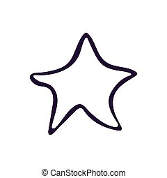 Star button icon vector illustration on white background