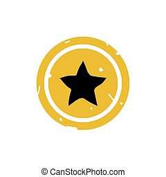 Star button icon vector illustration