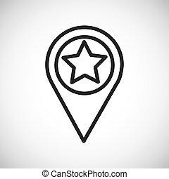 Star button. Silhouette icon design. Vector graphic